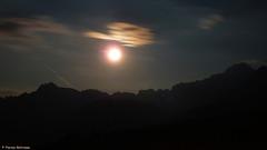Moon on the Mangart mountain / Tarvisio-Italy (Pierino Beltrame) Tags: sunset italy panorama mountain mountains alps nature beautiful landscape scenery europa europe italia nuvole natura monte alpi paesaggio monti friuli panoramico beltrame friuliveneziagiulia pierino abigfave