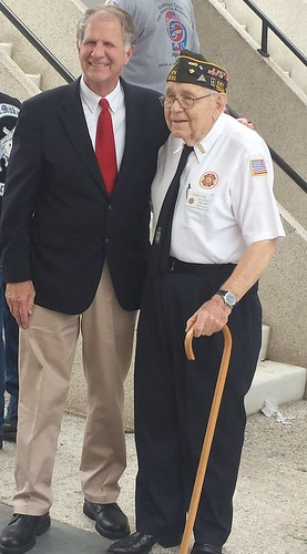 """Houston Memorial Day Ted Poe with his WWII dad <a style=""""margin-left:10px; font-size:0.8em;"""" href=""""http://www.flickr.com/photos/125529583@N03/18433581111/"""" target=""""_blank"""">@flickr</a>"""