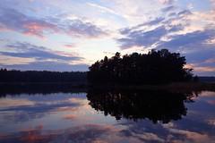 Evening islet (in explore 26.6.2015) (sakarip) Tags: sea summer water finland island flickr explore islet juhannus kotka vuorisaari sakarip inexplore2662015
