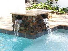 Copper Scuppers (allseasonspoolsfl) Tags: water pool unique pools designs features