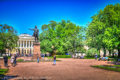 Pushkin Statue & Russian Museum (Kev Walker ¦ 7 Million Views..Thank You) Tags: stpetersburg russia hdr 2015 kevinwalker