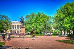Pushkin Statue & Russian Museum (Kev Walker ¦ 8 Million Views..Thank You) Tags: stpetersburg russia hdr 2015 kevinwalker