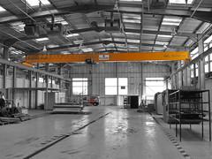 Overhead Crane in the former Sealine Building at Kidderminster