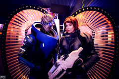 Mass Effect: Garrus and Shepard (tonicnebula) Tags: photography cosplay shepard bioware crossplay masseffect colossalcon videogamecosplay commandershepard garrus garrusvakarian