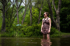 Wife in Water (corybeatty) Tags: park ontario canada nature girl relax nikon wife