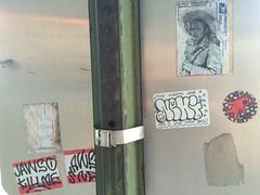 Stickers on Signs (MaxTheMightyy) Tags: streetart art graffiti washingtondc dc washington sticker tag stickers tags vandalism jaws usps tagging throw blight vandals prioritymail hellomynameis slaps throws ttyl nehi uspslabel dcgraffiti slaptagging washingtondcgraffiti usps228 jawso jawsone