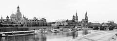 Dresden Panorama (Andreas Schwertner) Tags: bw panorama dresden dd frauenkirche elbe dresdenpanorama