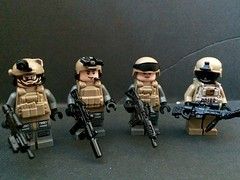 Alpha Team - (jonahfox1) Tags: lego modern combat post apoc sci fi moc tactical team spec ops special forces navy seals military brickarms minifigcat
