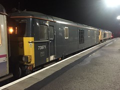 Fort William - 29-12-2016 (agcthoms) Tags: scotland highland invernessshire fortwilliam station railways trains serco gbrf class73 73971