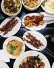 Serious feastin' at #Biang! Loving all the types of skewers and noodles they off... (foodnerdnyc) Tags: biang biangbiang biangnyc eatingnyc foodbabynyc nyc tsingtao xianfamousfoods