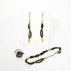 parure Flò (BennyBijou) Tags: fattiamano orecchini anello bracciale madeinitaly madeinsicily argento925