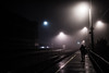 6am Morning Fog at the Metra platform (Jovan Jimenez) Tags: silhouette night fog eosm3 eos m3 efm canon 22mm stm morning metra platform ravenswood lights train station public transportation street rta
