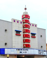 The Washita Theater in Chickasha, Oklahoma (kevinellison62) Tags: architecture modernmovement modernstyle building oldbuilding chickasha oklahoma washitatheater theater