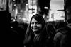 A Friend (Baranitharan Babu) Tags: nyc newyork timessquare christmas eve people blackandwhite street bokeh portrait monochrome 50mm canont3i bw usa primelens smile