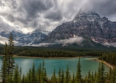 Mountain Moods (Philip Kuntz) Tags: mtchephren lowerwaterfowllake storms stormy glacialwaters mountains peaks snowstorm canadianrockies banff banffnationalpark alberta canada