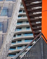 hamburg facades - hafencity view point (dan.boss) Tags: abstract stairs banister orange facade germany hafencity hamburg