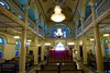 Musemah Yeshua Synagogue, 26th Street, Yangon, Myanmar  - 1 (Yekkes) Tags: travel asia myanmar burma yangon rangoon synagogue jewish pillars candelabras arches temple stainedglass 26thstreetyangon
