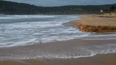 High tides eating away at the beach (Merrillie) Tags: uminabeach sand sunrise nature australia mountains sky nswcentralcoast erosion newsouthwales sea waves nsw sandbank beach clouds centralcoastnsw umina seascape photography water oceanbeach waterscape dawn landscape hightide outdoors
