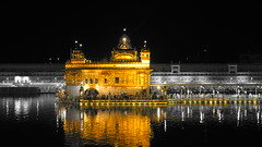 A Holy Place !! (Darbar Sahib) (rick_toor) Tags: travel wallpaper india black reflection water beautiful night photography gold lights golden asia flickr colours indian sony arts tourist hobby historic sikh gurdwara punjab amritsar sikhism goldentemple heavenonearth sarovar sarowar thegoldentemple sonydschx400v ricktoor