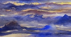 The Journey to Iceland (Ker Kaya) Tags: seascape blue kerkaya aquarelle art abstract water watercolor watercolour waves ice iceland sunset fdekerkaya ker kaya artist photography dmcfz200 kerkayaphotography