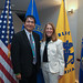 Navajo Nation Vice President Jonathan Nez poses with HHS Secretary Sylvia Burwell before the Secretary's Tribal Advisory Committee meeting. The committee includes of one primary representative from each of the 12 areas of the Indian Health Service and five at-large representatives. HHS headquarters. Photo by Jared King.