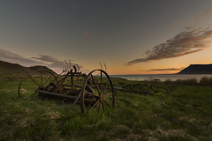The wheel (KasparsDz) Tags: sunset clouds landscape iceland fjord