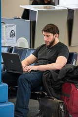 hot guy - Cleveland Hopkins International Airport - 2014-11-29 (Tim Evanson) Tags: cuteguys