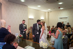 Niamh & Jonathan's Wedding (tw332) Tags: wedding groom bride claire jonathan cam bridesmaid bestman niamh firstkiss