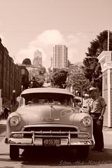 Hyde Street Pier - Fisherman's Wharf - 071225 - 02 - Mid Peninsula Old Time Auto Club (Stan-the-Rocker) Tags: sanfrancisco nps sony fishermanswharf hydestreetpier nex sel18200le stantherocker midpeninsulaoldtimeautoclub mpotac
