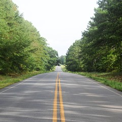 The Road Ahead. Day 75. Rt. 308 outside Plains, GA. The past few days I've been dragging for the first hour or two, then stopping to make coffee to power up. Wised up today and made coffee with breakfast. Took me longer to get going but feeling good. #The