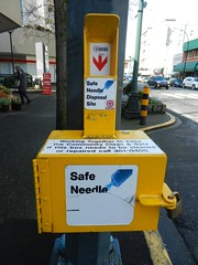 Safe Needle Disposal (knightbefore_99) Tags: city canada west coast bc capital disposal victoria needle drugs safe idiots junkie pest epidemic crackhead