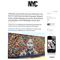 Caleb Neelon and Katie Yamasaki and more politically and socially conscious NYC street art (LoisInWonderland) Tags: streetart queens astoria publicart politicalart muralart calebneelon katieyamasaki wellingcourt wellingcourtmuralproject kaliefbrowder