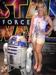 Star Wars Nightie (Kim Cums) Tags: blonde braless cinema collar collared dress flickrsafe heels highheels legs minidress nightie pantieless public slut starwars kimcums