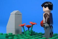 His Own Grave (MrKjito) Tags: lego minifig super hero comics comic dc red hood jason todd batman grave alive dead antihero