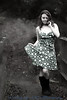 Country girl (Hi, I'm Tim.) Tags: girl woman young youth twenty teen teenage teenager pretty hot cute beauty beautiful attractive dress frock spots spotty rubber boots wellies wellington hunters tacraftphotography canon 5dsr 85f18 85mm portrait lens location rural country farm farmers daughter
