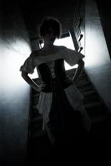 The Cellar 3 (Mark_Dangerous) Tags: woman model vintage poisonapple cellar dark fairytale magical medieval corset dress evil photoseries colorgrading photostory spell femmefatale portrait silhouette