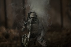 IMG_1656 (wadetaylor) Tags: threea threeacustom smoke smokeball coloredsmoke gasmask sparks