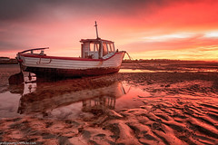 Meols Beach Sunset (9 of 14) (andyyoung37) Tags: boat meolsbeech merseyestuary beach greatsky sunset thewirral meols england unitedkingdom gb