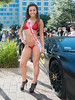 Miss Motorsports (Ron Scubadiver's Wild Life) Tags: girl woman candid street style nikon outdoor houston texas 50mm