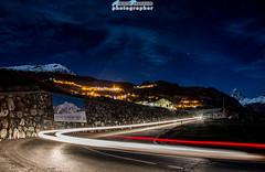 Torgnon con il Cervino sullo sfondo! (Albi Nikon) Tags: light painting car velocità cervinia strada macchina serata night luci
