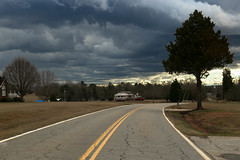 Darkening skies - Anderson Co. S.C. (DT's Photo Site - Anderson S.C.) Tags: andersonsc canon 6d 24105mml lens rural country road upstate sc farm clouds storm cloudy