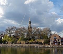 Shadwell Basin and St Paul's church (Dun.can) Tags: wapping shadwell london johnwalters church 1821 stpauls shadwellbasin reflection docks e1