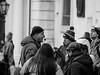 The guide (rainerralph) Tags: olympus olympusomdem1 guide outdoor strassenfotografie austria objektiv4015028pro streetphotography tourist vienna hofburg blackandwhite wien