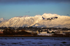 The R2-D2 ANA Jet Flied to Vancouver Airport Canada (YVR) Again in Winter (TOTORORO.RORO) Tags: star wars themed airplane jet r2d2anajet yvr yvr2d2 landing yvrairport r2d2 ana allniponairway japan tokyo haneda airport hnd boeing 7879 dreamliner vancouver canada strong force droid theforceawakens starwars snowcapped mountain panasonic zs100