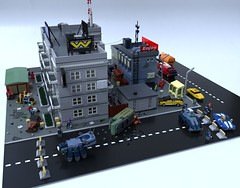 High tech / low life (Sunder_59) Tags: lego moc render blender3d city scifi future cyberpunk