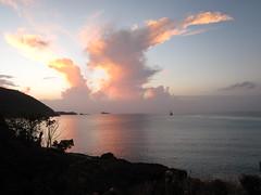 VG 2011 (143) (Mr Flikker) Tags: bvi britishvirginislands water clouds caribbean sunset landscape seascape shore sky cloud ship sail seaside reflection shadow