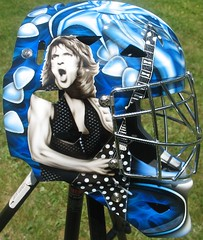 "Guitar Hero Mask 2 (""Gutz"") Tags: guitar hero goalie mask rock star randy rhodes airbrush airbrushed airbrushing custom paint helmet hockey ozzy"