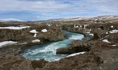 This River Is Wild (lunaryuna) Tags: iceland centralnorthiceland godafoss waterfall river skjálfandafljótriver ruggedland landscape wilderness farm bridge rockformations wildriver cold spring season seasonalchange weather weathermood thelightfantastic lunaryuna