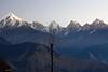 Munsiary morning. (draskd) Tags: munsiary panchachuli morning sunrise lonebird mountainscape himalayas india beautifulindia himalaya uttarakhand uttaranchal