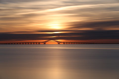 Golden Hour (Bob90901) Tags: goldenhour greatsouthbay longisland newyork longexposure neutraldensity dawn sunrise morning rpg90901 filter robertmosescauseway water sky clouds bridge canon 6d canonef70200mmf28lisiiusm canon70200f28lll bergenpoint westbabylon 2016 september 0642 summer lee superstopper nd15 vle cloudsstormssunsetssunrises
